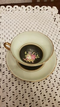 Antique Stanley mint green cup and saucer Barrie, L4N 6C3
