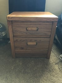 brown wooden 2-drawer nightstand Oklahoma City, 73135