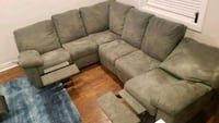 brown suede sectional couch and ottoman Washington, 20019