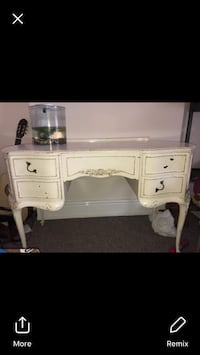 White wooden vanity table screenshot Southport, PR8 5BU