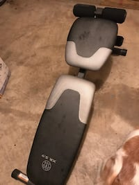 Weight bench. Good condition. Must pick up Saturda