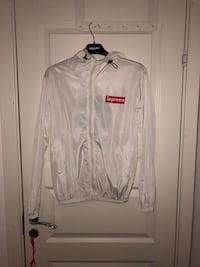 SUPREME white zip-up jacket Oslo, 0973