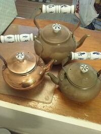 3 copper teapots  Monmouth County, 07756