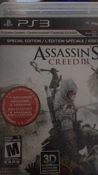 Sony PS3 Assassin's Creed 3 case Coquitlam, V3K 6Y8