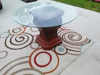 Dining room table with glass top