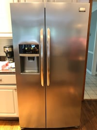 stainless steel side-by-side refrigerator with dispenser Manassas, 20112