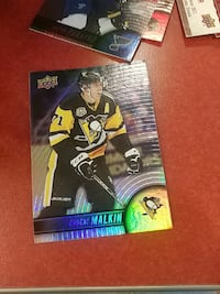 Evgent Malkin of Pittsburgh Penguins trading card
