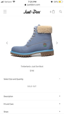 Timberland x Just Don 6 -inch denim boot