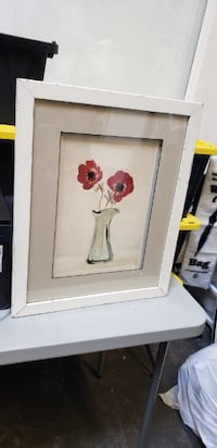 Red Flower Painting BOWIE