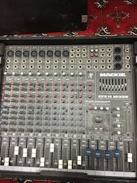 black and gray audio mixer
