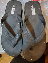 FREE black flip flops with clear stone detail
