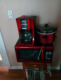 red-and-black coffeemaker with rice cooker with microwave oven Redlands, 92374