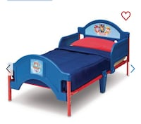 Blue and red paw patrol bed frame Toronto, M6A