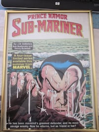 VINTAGE 1980's PRINCE NAMOR THE SUBMARINER 16 x 11 MARVEL COMICS PROMOTIONAL POSTER Winnipeg