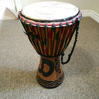 "10"" African Djembe drum with case Wasaga Beach, L9Z 2W6"