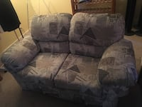 Gray and black floral fabric sofa chair Port Coquitlam, V3B 1V2