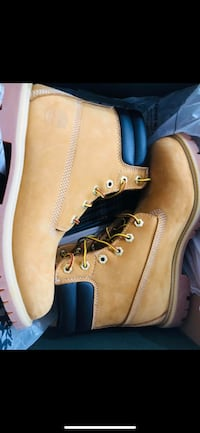wheat Timberland nubuck work boots with box screenshot Arlington, 22206