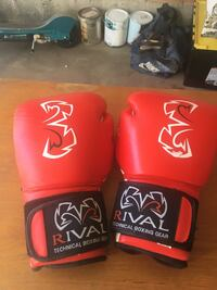 two red and black Everlast boxing gloves St Albert, T8N 5W3