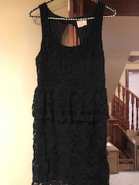 WORN ONCE Urban Outfitters Peplum Black Lace Dress with Open Back - GREAT Condition Grimsby