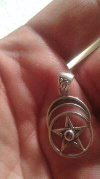 star and round silver pendant Saint Paul, 55107