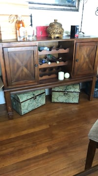 Brown wooden tv hutch with flat screen television Baton Rouge, 70806