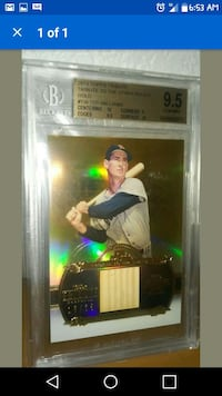 Ted Williams Graded Relic Card Tracy, 95376