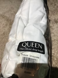 Queen chocolate box spring cover
