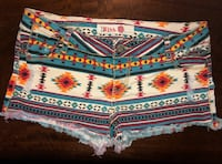 Women's Distressed Ripped Shorts Tribal Color SZ 7 Short Cutoffs 30 ""