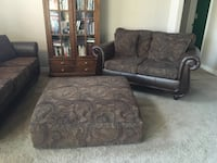 Brown and black floral fabric sofa Greeley, 80634