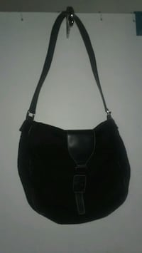women's black leather shoulder bag Lancaster