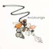 BUTTERFLY CHARM CRYSTAL NECKLACE Singapore