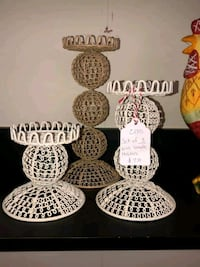 Set of 3 Wire Candle Holder Set