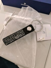 Swarovski Glam Rock Key Ring - Black *NEW*