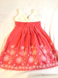 Women's red and white floral sleeveless dress Los Angeles, 91606