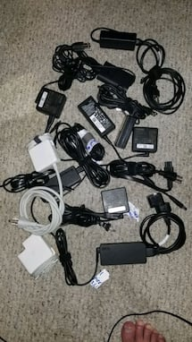 Various laptop power supplies