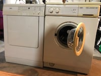 White washer and dryer set 528 km
