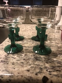 4 margarita glasses, very cute