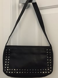 Black leather 2-way bag Hull, J8X