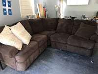 brown fabric sectional sofa with throw pillows Hainesport, 08036