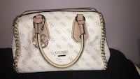 White and brown Guess handbag Longueuil, J3Y 7C3