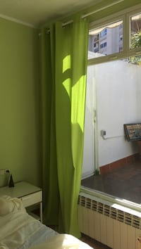 Green curtain, 3 pieces, each 10€ 6512 km