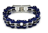 Mens D&Z Stainless Steel Motorcycle Bike Chain Bracelet Biker Jewelry 8 Inches- FREE SHIPPING (FEDEX. USPS) Boston, 02136