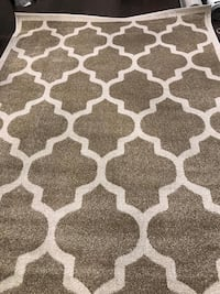 White and light brown area rug Mississauga