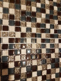 Stone, brown and blue glass tile decor Ontario, L3Z 0B7