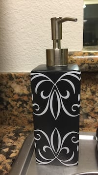silver and black soap dispenser Los Angeles, 90057
