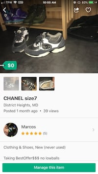 white-and-grey Chanel low-tops sneakers screenshot Upper Marlboro, 20772