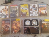 Sony PSP with games charger