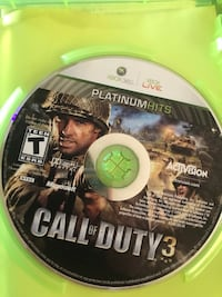 Call of Duty 3 for XBOX 360 used Jonestown, 17038
