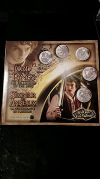 Lord of the rings coin set (fellowship of the ring)
