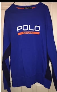 Men's Ralph Lauren polo sweatshirt XXL Blue and orange only worn one time still in as new condition Puyallup, 98375